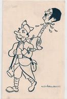 Cpa Illustrateur J Nebout Soldat & Tête Hitler - 1900-1949