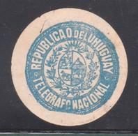 Uruguay 1920 -Ciardi COT 3 - Cierre Oficial -Telegraphs And Telegrams Closing- Coat Of Arms Blason-dotted Printing S21-1 - Uruguay
