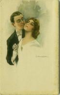 MONESTIER SIGNED 1910s POSTCARD - COUPLE - 807-3 (BG1911) - Monestier, C.
