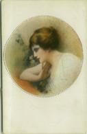 MONESTIER SIGNED 1910s POSTCARD - WOMAN  - N. 877 (BG1912) - Monestier, C.