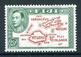 Fiji 1938-55 KGVI Pictorials - 2½d Map Of Islands - Die II - P.13½ - ERROR - Extra Island - HM (SG 256ba) - Fiji (...-1970)
