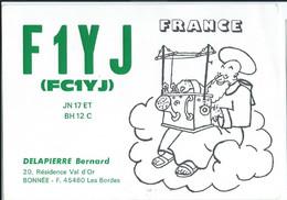 France - QSL Cards > Radio Amateur Club : Les Bordes 1993 - Comedy - Radio Amateur