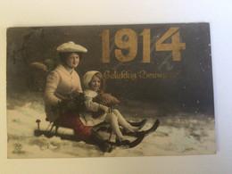 Carte Postale Ancienne (1913) Gelukkig Nieuwjaar ! 1914 - Anno Nuovo