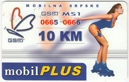 SERBIA A-237 Prepaid MobilPlus - People, Woman - Used - Jugoslawien
