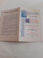 Calendrier De Poche 1904 Religieux  (publicitaire, Mini, Petit) - Big : 1901-20