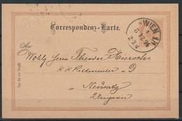 Oostenrijk Postkaart 1894 Van  Wenen / Opruiming, Clearance Sale, Déstockage. - Covers & Documents