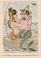 CPM Pêcheur Pêche à La Ligne Barque Pin-up Sexy Femme-poisson Sirène Mermaid Sirena Meerjungfrau Illustrateur O. MATTOS - Otros Ilustradores