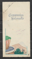 Menu Ancien Communion 15 Août 1945 - Menú