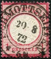 PREUSSEN 1872, NACHVERWEND.-STPL K2 SCHMOTTSEIFFEN AUF DR. 19, CV 28,- TOPP! - Used Stamps