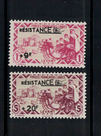LEVANT, 1943, NEUFS**, RARE, RESISTANCE - Unused Stamps