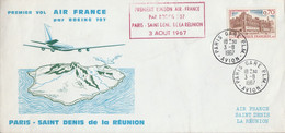 PREMIERE LIAISON AERIENNE SAINT DENIS DE LA REUNION-PARIS PAR BOEING 707 AIR FRANCE - Aerei