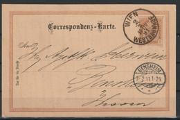 Oostenrijk Postkaart  1891 Van Wenen Naar Bensheim / Opruiming, Clearance Sale, Déstockage. - Covers & Documents