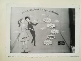 AMOUREUX DE PEYNET FRANCE EXPOSITION UNIVERSELLE INTERNATIONALE BRUXELLES 1958 HOMME FEMME 5 PHOTO BELGIQUE - Places