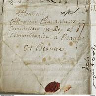 Lettre Vesoul Marque Manuscrite Pour Beaune 1724 Lettre écrite De Hardemont - 1701-1800: Voorlopers XVIII