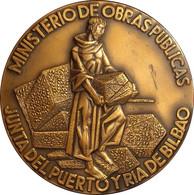 ESPAÑA. MEDALLA F.N.M.T. DIQUES Y ATRAQUES DE PUNTA LUCERO. 1.975. BRONCE. ESPAGNE. SPAIN MEDAL - Professionals/Firms