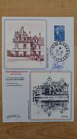 Carte Roland Irolla : Château Et Bord Du Cher - 41 - SAINT-AIGNAN-SUR-CHER + 2 Signatures - Commemorative Postmarks