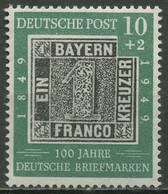 Bund 1949 100 Jahre Deutsche Briefmarken 113 Postfrisch - Ongebruikt