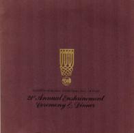 UNITED STATES 1988 - PROGRAM 21st ANNUAL ENSHRINEMENT CEREMONY & DINNER - NAISMITH BASKETBALL HALL OF FAME - 1950-Oggi