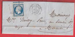 N°14 TTB UN VOISIN PC 36 AJACCIO CORSE POUR MARSEILLE - 1849-1876: Classic Period