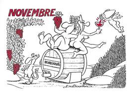 Humour Humoristique - NOVEMBRE - Bacchus Beaujolais Nouveau Arrivé - Vin - Illustrateur Du Bouillon - Numérotée 180 - Humor