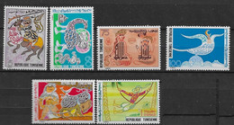 1978 - Tunisia- Tunisie - Calligraphy, Arts And Traditions - Calligraphie, Art Et Traditions- Complete Set 6v.MNH** - Tunisia