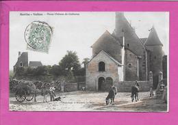 72 Sarthe Vallon Vieux Chateau De Guiberne Photo Bouveret Le Mans Place Animée Attelage Mule CPA Oblitéré 1907 Mettray - Altri Comuni