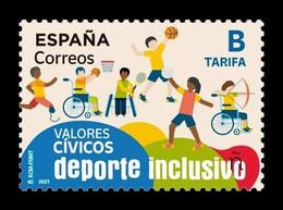 Spain 2021 Mih. 5535 Inclusive Sport. Basketball. Volleyball. Tennis. Archery. Athletics MNH ** - 2011-... Ongebruikt