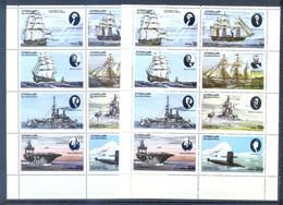 EYNHALLOW LOT 2 SHEETS SHIPS AND BOATS    MNH - Maritime