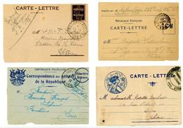 GUERRE 1914/1918 CLFM X 4 DIFFERENTES - 1877-1920: Semi Modern Period