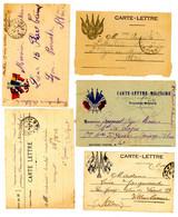 GUERRE 1914/1918 CLFM X 5 DIFFERENTES - 1877-1920: Semi Modern Period