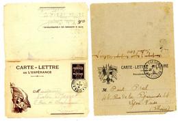 GUERRE 1914/1918 CLFM X 2 DIFFERENTES - 1877-1920: Semi Modern Period