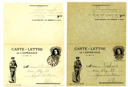 GUERRE 1914/1918 CLFM BELGE X 2 DIFFERENTES - 1877-1920: Semi Modern Period