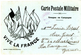 MEURTHE ET MOSELLE 1915 CPFM PRIVEE TROUPE EN CAMPAGNE IMPRIMERIE MERE.E.CLAUDE A NANCY - 1877-1920: Semi Modern Period