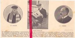 Orig. Knipsel Coupure Tijdschrift Magazine - Ede & Soesterberg - Piloten Küller, Wijnmalen & Verwey - 1910 - Ohne Zuordnung