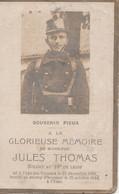 ABL , Jules Thomas , Né à Fays - Les - Veneurs Le 22 Décembre 1893 Tombé Au Champ D'honneur Le 25 Octobre 1914 à L'Yser - Avvisi Di Necrologio