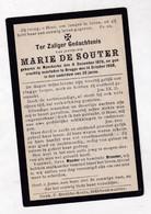 =   M.DE SOUTER °MOERKERKE-DAMME 1876  +BRUGGE 1908 - Santini