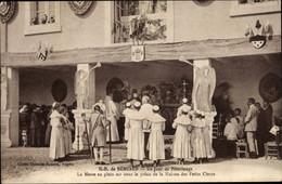 CPA Béhuard Maine-et-Loire, Notre Dame, Jour De Pelerinage, Messe, Maison Des Petits Clercs - Andere Gemeenten