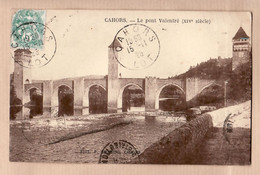X46157 ⭐ CAHORS 46-Lot Le Pont VALENTRE XIVem Siecle 1925 à MANGIN Rue Cascades Paris XI - MEYZENC - Cahors