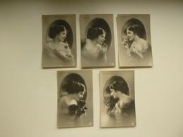 Beau Lot De 20 Cartes Postales ( 4 Series X 5 Cartes ) De Fantaisie Femme   Mooi Lot Van 20 Postkaarten Fantasie Vrouw - 5 - 99 Cartes