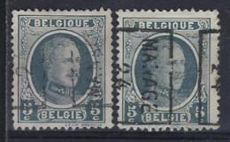 HOUYOUX Nr. 193 België Voorafstempeling Nr. 3378 A + B  MANAGE  24 ; Staat Zie Scan  ! RRR - Rolstempels 1920-29