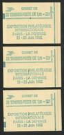 Trois Carnets Fermés De 20 TP : Deux  N° 2155 - C4 Sans N° Et Conf 8 + N° 2155 - C4a Gomme Tropicale (voir Description) - Definitives