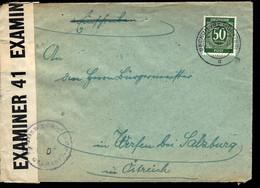 1947 - BECKUM - POUR SALZBURG - CENSURE - ZENSUR - CENSORSHIP - American,British And Russian Zone