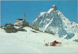 AA152 Cervinia Breuil (Aosta) - Skilift Al Testa Grigia - Monte Cervino - Panorama / Viaggiata 1969 - Other Cities