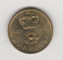 DANEMARK - 20 COURONNES 1990 - Dänemark