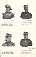Patriotique Le General Fabre Le General Mathis Le General Caze Le General Blancq RV - Patriottiche