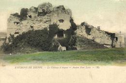 ENVIRONS DE DIEPPE  Le Chateau D' Arques Ancien Pont Levis Colorisée RV - Other Municipalities