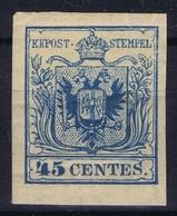Austria Lombardei & Venetien 1850 Mi 5 Type III MH/* Flz/ Charniere ND 1884 - Unused Stamps
