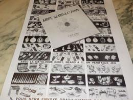 ANCIENNE PUBLICITE CADEAUX KIRBY BEARD MAGASIN PARIS   1938 - Advertising
