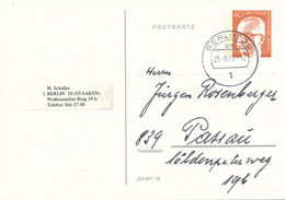 BERLIN  20  -  1975  -   40 Pf.  Heinemann  -   PP 50 / 1 - Privatpostkarten - Gebraucht