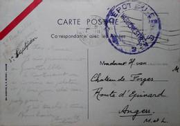H 5 Lettre/ Document/ Carte  Fm - Guerre De 1939-45